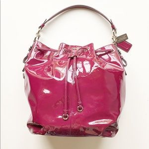 Coach Bags - Coach   Patent Plum Leather Shoulder Bag